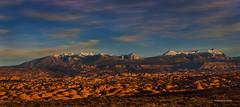 Petrified Dunes (McKendrickPhotography.com) Tags: petrifiedsanddunes lasalmountains archesnationalpark clouds bluesky snowwinter greatphotographers