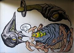 Collective discomfort (Alfredo Liverani) Tags: 7dayswithflickr 7dwf freetheme canong5x canon g5x pointandshoot point shoot ps flickrdigital flickr digital camera cameras europa europe italia italy italien italie emiliaromagna romagna faenza faventia faience faenza2018 laperle perle streetart graffiti art street murales wall spray aerosolcolor