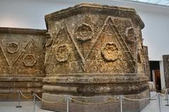 Facade of Qasr Mshatta, Umayyad, 8th cent.; Pergamon Museum, Berlin (13) (Prof. Mortel) Tags: germany berlin pergamonmuseum islamic umayyad mshatta