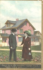 The Smallest Cottage (912greens) Tags: love romance houses postcards backyards 1900s