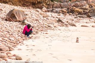 Pebble heaven at Beauport beach, Jersey, Channel Islands