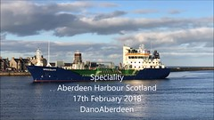 Speciality - Aberdeen Harbour Scotland - 17/2/2018 (DanoAberdeen) Tags: mpeg aberdeen autumn amateur aberdeencity aberdeenscotland abdn aberdeenharbour scotland spring scotia schotland skottland scottishhighlands škotija scottish winter water workboats wss ecosse escocia escotia engineering recent riverdee tug transport tugboat torry tanker tugboats uk ukshipspotters unitedkingdom iskoçya iphone iphone7plus iphoneography iphonevideo 2018 danoaberdeen abz shipspottersuk vessels video vts grampian geotagged granitecity aberdeenunionstreet seafarers seaport seascape seashore tranquil offshore offshoreships offshorevessels offshoresupplyship oilrigs summer supplyships cargoships mp4 dano footdee fittie torrybattery docks speciality jamesfisher shippingservices chemicaltanker