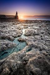 Fécamp le retour des beaux jours (amateur72) Tags: fujifilm normandie paysdecaux paysage xf1024mm cliffs coucherdesoleil falaises landscape mer plage sunset xt1