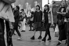 Seen Outside The Scene (burnt dirt) Tags: asian japan tokyo shibuya station streetphotography documentary candid portrait fujifilm xt1 bw blackandwhite laugh smile cute sexy latina young girl woman japanese korean thai dress skirt shorts jeans jacket leather pants boots heels stilettos bra stockings tights yogapants leggings couple lovers friends longhair shorthair ponytail cellphone glasses sunglasses blonde brunette redhead tattoo model train bus busstation metro city town downtown sidewalk pretty beautiful selfie fashion pregnant sweater people person costume cosplay floral pattern