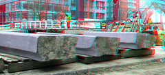 Wijnhavenbrug Rotterdam 3D (wim hoppenbrouwers) Tags: wijnhavenbrug rotterdam 3d anaglyph stereo redcyan