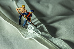 Zip Repairs (SKAC32) Tags: macro canonef100mmf28macrousm preiser zip fastener white macromondays