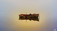 Little boat un the fog (JesusLobato) Tags: largaexposicion diurna niebla paisaje amanecer amaneceres tokina nikond3100 filtros lucroit barcas degradado delta deltadelebro ebro