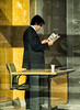 'Shady Business' (Canadapt) Tags: man reading desk paper window reflection shadow businessman loures portugal canadapt