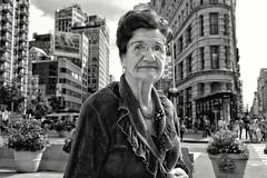 Flatiron district (Roy Savoy) Tags: bw city people nyc street