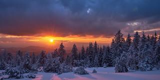 Sonnenuntergang auf dem Schliffkopf