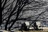 Overrun (jah32) Tags: shadow shadows winter winterlight wall walls chairs chair muskokachairs muskokachair portstanley poc ontario canada elgincounty