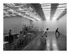 160513_1202_160513 114154_oly_S1_New York (A Is To B As B Is To C) Tags: aistobasbistoc usa newyorkstate newyork roadtrip travel olympus stylus1s bw blackwhite blackandwhite monochrome newmuseum sanaa architect architecture room glass bowery manhattan people café watching dancing dance duo art performance white black lights fluorescent ceiling building reflection