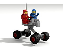 Two Seat Rover (David Roberts 01341) Tags: lego ldd povray classicspace rover vehicle minifigure
