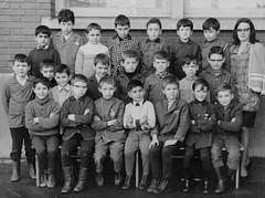 Class photo (theirhistory) Tags: children boy kids school group form teacher shoes trousers jumper shirt wellies jacket boots