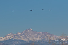 March 3, 2018 - Military helicopters fly above the snow-capped mountains. (Tony's Takes)