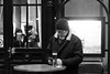 *** PHONE TIME? *** BEER TIME? *** (*** Joe Wild ***) Tags: people bnw black white schwarz weiss street station hb hauptbahnhof zürich schweiz swiss einfarbig personen hinweisschild laden mann man men beard bart phone mobil iphone bier beer drink