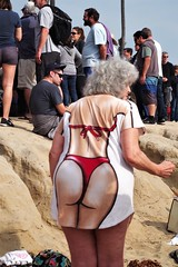 Woman Of Age @ The Beach (Joey Z1) Tags: olderwomanhavingfun jan1statthebeach newyearsdaytradition polarbearswim polarbearswimlosangeles polarbearswim2018 womanofageatthebeach lalife laasseenbyjoeyz1 urbanlife dayatthebeach cabrillobeach cabrillobeachsanpedro sola pentaxks1 polychromatic bylaphotolaureatejoeyzanotti womanofage beachattire