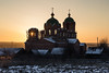 Winter Sunset. (Oleg.A) Tags: lifegivingtrinitychurch sunny penzaregion church nature bell red twilight architecture cross yellow ruined landscape russia old brick outdoor rural evening villiage countryside mikhaylovka abandoned interior building cathedral dome viewpoint winter colorful materials snow sunset orthodox catedral landscapes outdoors penzenskayaoblast ru