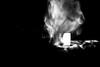 My last breath (Manos Kou) Tags: smoke death blow light black white dead breath contrast