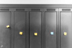 Quotes (Stefen Acepcion) Tags: school bw black white blackandwhite canada new ontario highschool color selective selectivecolor lock locker pos exposure contrast