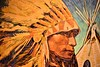 'Sioux War Bonnet' (thomasgorman1) Tags: oil native american chief bonnet feathers war southwest nikon portrait man expressionist gallery art santafe