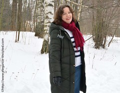 denim and cashmere (Elegance Revisited) Tags: casual cashmere stripes winter downcoat 40blogger denim skirt