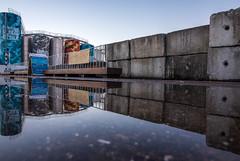 SILO PARK (James Stonley) Tags: silo park water reflection nikon d750 sigma art wynyard quarter auckland puddle
