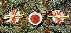 Veggies and Marinara Sauce (genesee_metcalfs) Tags: food snack veggies cucumber celery peppers radish