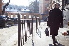 Капель / Eavesdrip (D. Kutz) Tags: spring eavesdrip sun woman lwow ukraine