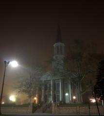 _MG_3249.CR2 (jalexartis) Tags: fayetteville fayettevillenc fayettevillenorthcarolina fog foggy foggymorning downtownfayetteville downtown firstpresbyterianchurch