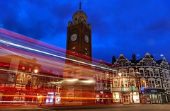 Crouch End clocktower (Westhamwolf) Tags: crouch end hornsey london clock tower night evening hd trails