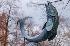 Fischtor II (MKP-0508) Tags: mainz fotowalk altstadt mainzeraltstadt fischtor brunnen fountain fontaine fisch fish poisson sculpture skulptur metall