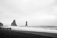 Running the gauntlet (timnutt) Tags: mono waves x100t blackandwhite beach ocean monochrome bw iceland fuji reynisfjara blacksand dyrholaey sea coast