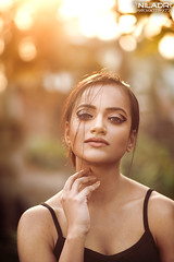 N E E L A K S H I (Niladri Chatterjee) Tags: sunset portrait sunlight goldenhour golden rooftop crosslighting pretty face model indian kolkata nikon d800 18g 85mm