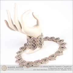 Le Collier de Sainte Chapelle (The Manek Lady) Tags: maneklady tutorial instruction craw praw seed bead cabochon necklace collar weaving
