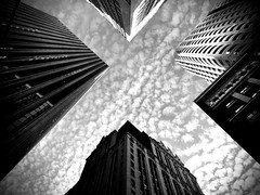 mottled sky (eb78) Tags: iphone iphoneography ca california bw blackandwhite monochrome greyscale grayscale sf sanfrancisco financialdistrict