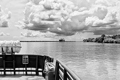 DMAFR Day 1 (6) (momentspause) Tags: roadtrip louisiana canon5dmkiii canonef50mmf18 niftyfifty blackandwhite bw blackandwhitephotography ferry mississippiriver