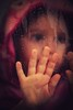 Prisonnière (marineGib) Tags: children enfant gouttes drops main pink rose verre glass hand
