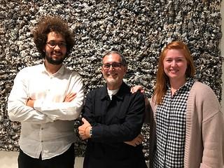 Artists William Osorio and Mario Bencomo with Luisa Lignarolo de  Cernuda at LnS Gallery in Coconut Grove