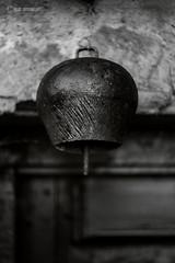 Doorbell (tamnitok) Tags: decay rural iron bell object closeup light shadow monochrome blackandwhite mankind handcraft