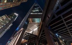 Scraping the Sky (dansshots) Tags: hudsonyards dansshots nikon nikond750 nyc newyorkcity newyork newyorkatnight highline thehighline rokinon rokinon14mm wideangle skyscraper lookup lookingup alwayslookup