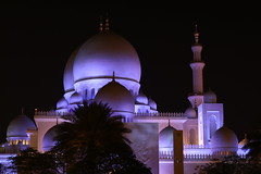 Grand Mosque, Abu Dhabi, UAE. A view from car park. (Subrata_AD) Tags: canoneos5dmarkiv canonef85mmf12liiusmlens canonprimelens lighting nightphotography stilllifephotography monumentphotography architecturephotography architecture seikhzayedmosque grandmosque mosque monument placestoseeinabudhabi thingstoseeinabudhabi uae abudhabi