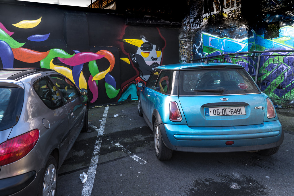STREET ART AT THE TIVOLI CAR PARK IN DUBLIN [LAST CHANCE BEFORE THE SITE IS REDEVELOPED]-135604
