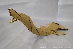 Elasmosaurus, opus 18 (origami_artist_diego) Tags: origami prehistoric elasmosaurus owndesign paperfolding papiroflexia dobradura
