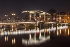 de Magere brug in Amsterdam op vrijdag 16 februari 2018