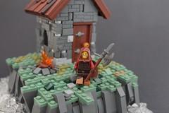 hunter (-Matt Hew-) Tags: lego castle kingdoms moc technique rock hut axe