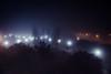 Noche de niebla (Alicia Clerencia) Tags: nightime nocturna niebla mist light luz farolas lamost árboles trees parque park huelva paisaje landscape urbana street azul blue