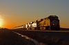NS 8104, NS Fostoria District, Edgerton, Indiana (monon738) Tags: train railroad railway locomotive railfanning ns norfolksouthern ge gees44ac es44ac engine diesellocomotive pentax k3 nsfostoriadistrict indiana allencounty edgertonindiana unit ns8104 ns64r oiltrain tankertrain nsheritageunits lehighvalleyheritageunit lehighvalley gevo sunset smcpda50135mmf28edifsdm