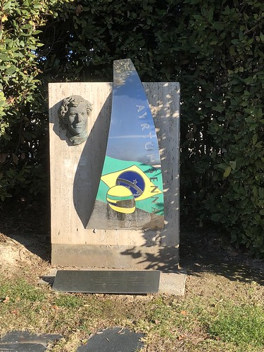 The Ayrton Senna memorial at the Circuit de Catalunya.