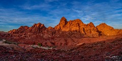 Resolution (craig goettsch) Tags: valleyoffirestatepark nevada sky rocks red panorama nikon d810 goldenhour landscape clouds stitched redrock nv